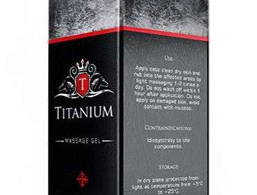 Упаковка геля титаниум для увеличения члена